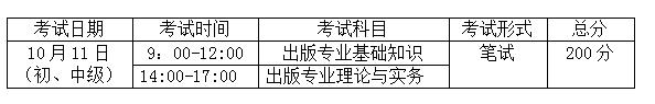 2020年出版资格考试时间及考试内容